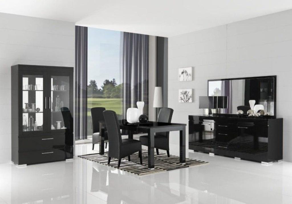 Davidi design davidi design gilda dressoir met spiegel hg zwart van davidi design spiegel - Dressoir met spiegel ...